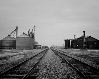 Black and White Photography Print - Frisco Train Depot - Old Town Photography - Train photography