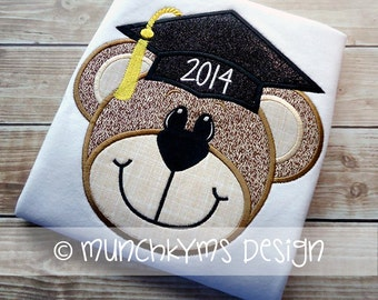 Graduation Bear Applique