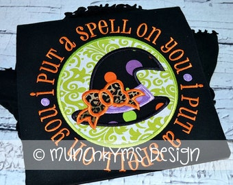 I Put A Spell On You Applique