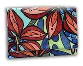 "Art To Wear Envelope Clutch Handbag by Miami Artist Holly A. Jones | ""Three Guys"" Limited Edition"