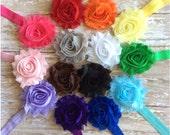 Pick 3 Shabby Chic Flower Headbands, Baby Headbands, Toddler Headbands, Girls Headbands, Adult Headbands, Photo Prop, Hair Bow, Flower Girl
