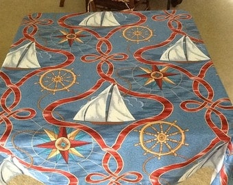Nautical Table Cloths in Square 54 x 54 and Rectangular 54 x 96