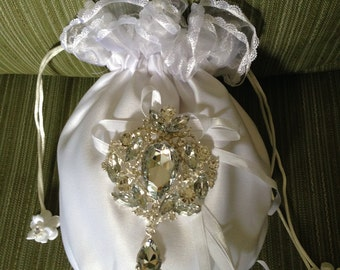 Bridal Money Bags, Wedding Money Bags, Bridal Purse, Wedding Dance Bag, Satin Purse