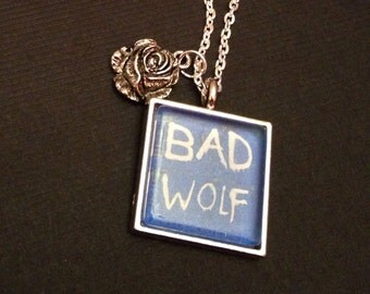 Dr. Who Bad Wolf pendant necklace