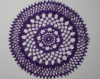 """12"""" Purple Teatime Doily"""
