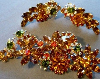 verified layered julianna brooch and earring set