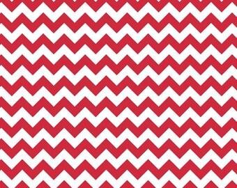 Riley Blake Fat Quarter Red Small Chevron Fabric Cotton