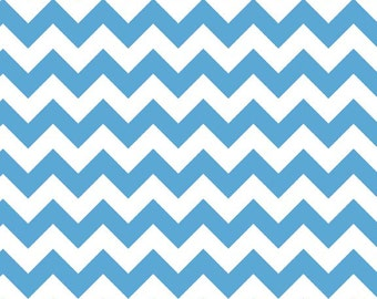 Chevron Fabric Blue Small Riley Blake Chevron Fabric Cotton Medium Blue