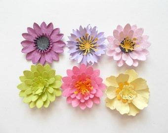 Seed Paper Flowers   Plantable Desert Cactus Blooms Sample Pack Of 6   Eco  Friendly Flowers