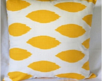 "Chipper Corn Yellow Slub  Home Accent Throw Pillow Cover, Lumbar PillowCase, Cushion Cover 18x18"" and more"