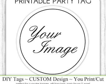 CUSTOM Bridal Favor, Party Favor, Shower Printable, Bridal Shower Tag, DIY Cupcake Topper, Party Favor tag, You Print, You Cut