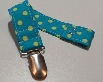 Pacifier Clip - Polka Dots