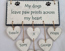 My Dogs Leave Paw Prints Across My Heart Plaque