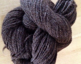 Dark Chocolate Brown Suri Alpaca Sport Weight Yarn