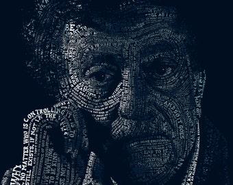 Typographic Kurt Vonnegut Poster