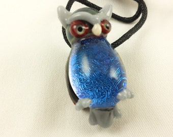 Owl - Glass Necklace