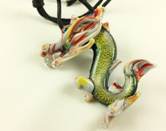 Dragon - Glass Pendant Necklace