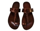 Leather boho sandals, women bohemian sandals shoes for women