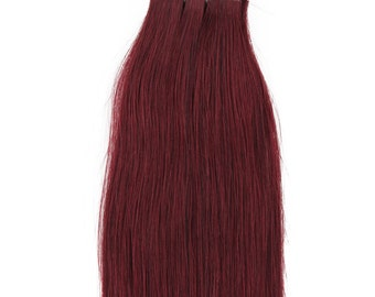 18 inches 100grs,40pcs, Human Tape In Hair Extensions #99J Burgundy Red Wine