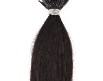 22inch 100grs,100s,Stick (I) Tip Human Hair Extensions 1B Off Black