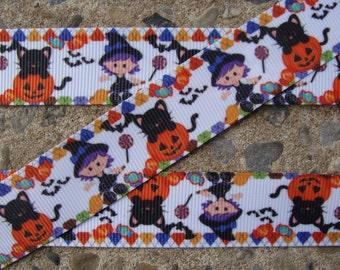 """3 yards Good witch ribbon Printed Ribbon Halloween Ribbon 7/8"""" grosgrain ribbon Hair Bow ribbon"""