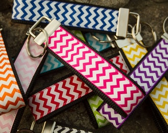 Wholesale Priced Chevron Key Fob Keychains: 10 for 35.00, 25 for 81.25, or 50 for 150.00