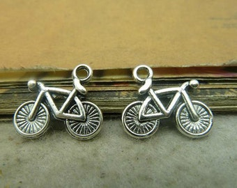 25pcs 14x15mm Antique Silver Bike Charms Pendant---Cute charm