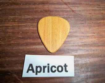 Apricot wood guitar pick