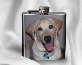 SALE! Photo Hip Flask - Photo Flask - Gift for Friend - Birthday gift - Alcohol - Liquor - Stainless Steel - 6 oz.-  - Cyber Monday