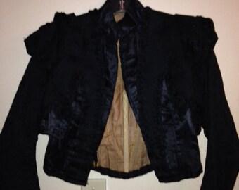 Vintage Edwardian Jacket- 1900s Black