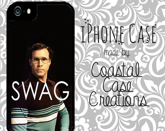 Will Ferrell SWAG Quote iPhone 4 an d 5 or Galaxy s4 Hard Plastic Cell ...