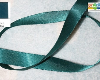 Promotion, Free shipping, 5 yards, ,5/8'', 5/8 inch, 16mm, Double Faced Satin Ribbon, Teal blue, deep blue