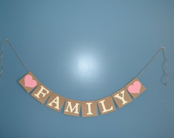 Family Photo Prop - Family Photo Banner - Picutres / Wedding / Event / Shower / MORE