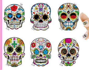 Sugar Skulls and Day of the Dead Nail Art Decal Sticker Set