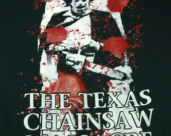 Texas Chainsaw Massacre bloody BACKPATCH punk horror leatherface