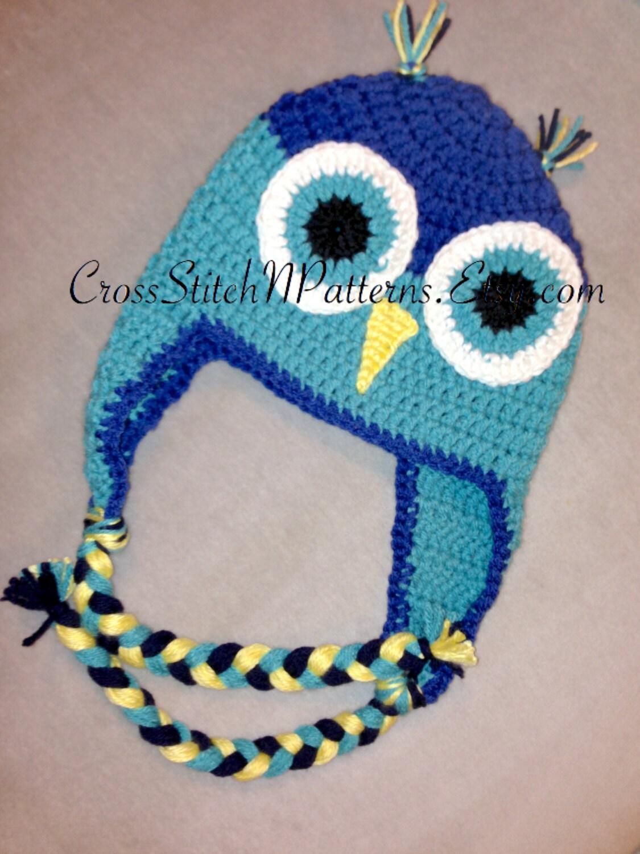 Pattern tn013 crochet owl hat pattern owl hat crochet baby zoom bankloansurffo Image collections