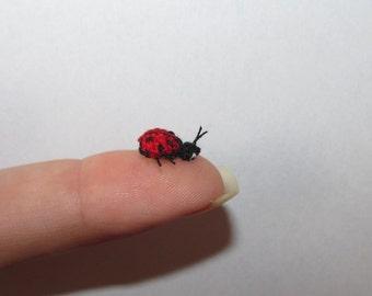 Miniature ladybug micro ladybug crochet ladybug miniature ladybird crochet animals dollhouse miniatures insects doll house toy bug