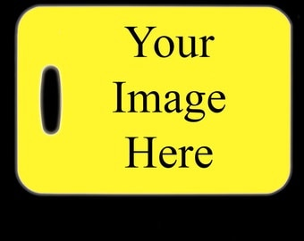 Custom Luggage Tag, Bag Finder, Suitcase Tag, Travel, Backpack ID, Create Your Own, Design Your Own, Photo, Picture, Photography, Logo