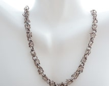 Sterling Necklace Crazy Link Chain 925 Intricate Design
