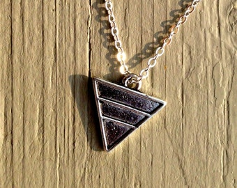 Silver Triangle Necklace, necklace, triangle, triangle necklace, silver necklace, silver