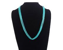 Southwest Multi Strand Turquoise Heishi Necklace