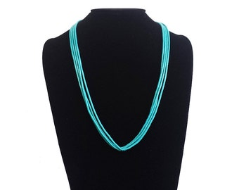 Southwest Multi Strand Turquoise Heishi Necklace