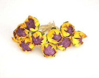 Bridal Hair Accessories, Flower Hair Bobby Pin, Brass Bobby pin- set 12