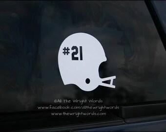 """4.9x4"""" Football Helmet Car Decal"""