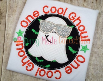 One Cool Ghoul Halloween Appliqued Shirt - Long or short sleeve, Girl or Boy