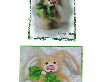 "Instant PDF-pattern bunny ""Anika"" 15cm  5,91 inch by Ah-hA BÄREN artist bear"