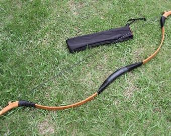 On Sale Longbowmaker Pigskin Archery Traditional Longbow Mongolian Bow Recurve Horsebow 20-80LBS MGZ