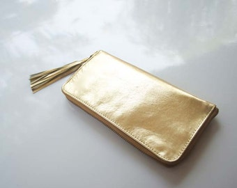 Metallic Gold Leather Wallet