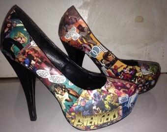 Custom made avengers shoes