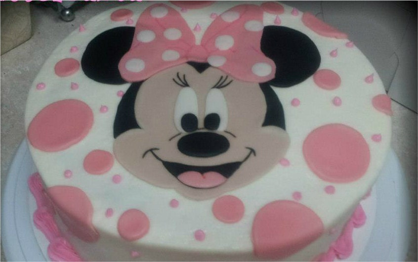 Minnie Mouse Cake Topper Images : Minnie Mouse Cake Topper